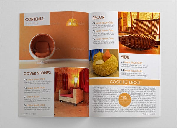 Interior Design Magazine Brochure