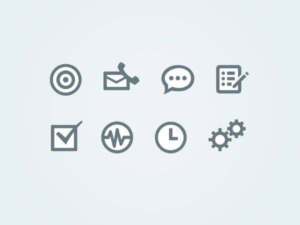White Web App Icons