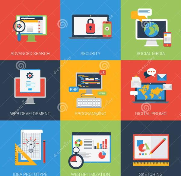 flat-web-app-icons