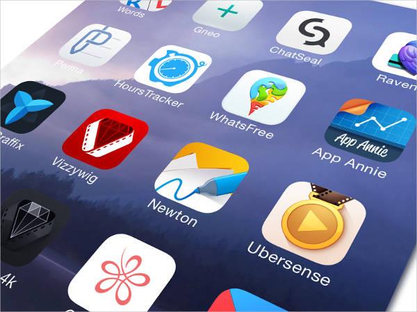flat ios app icons
