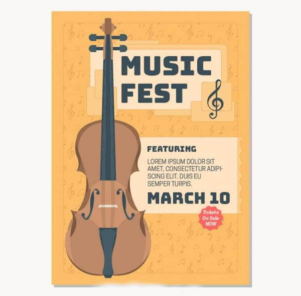 9 Music Brochures Editable PSD AI Vector EPS Format Download – Music Brochure