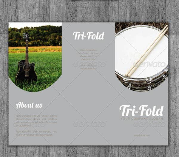 tri fold music brochure