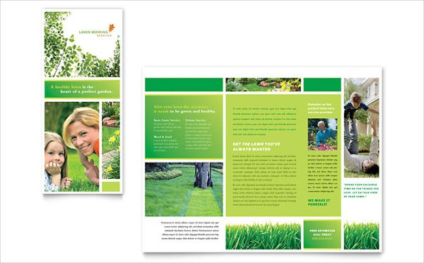 lawn mowing service brochure