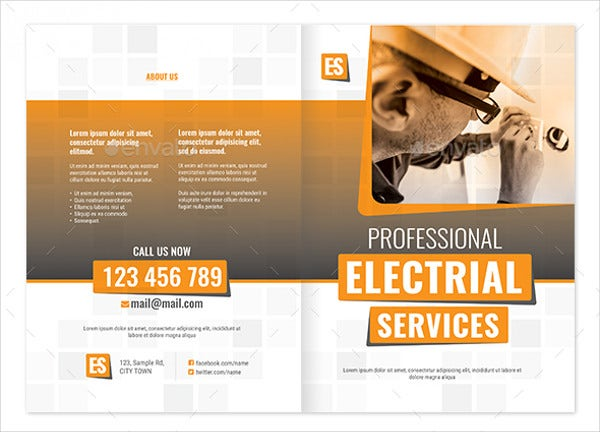 Electrical Service Bifold Brochure