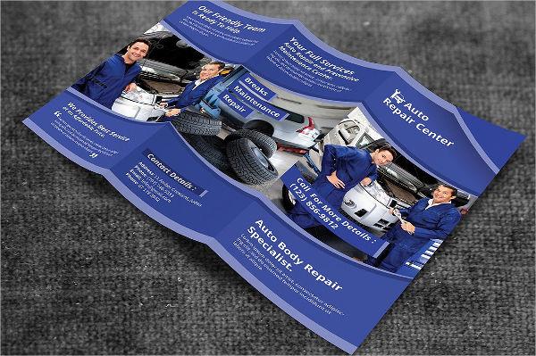 auto repair service brochure