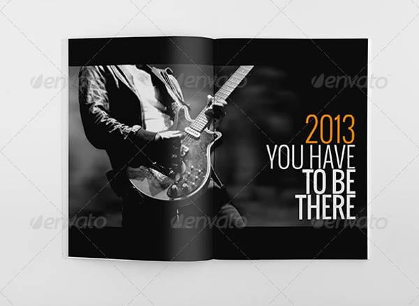 music event brochure