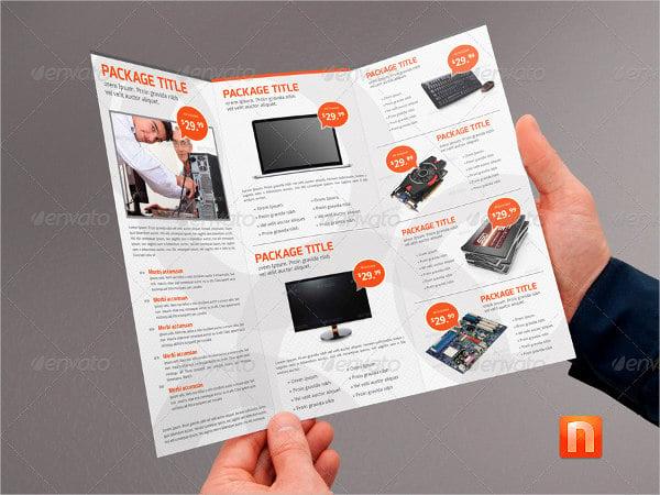 14  service brochures