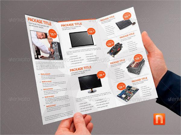 9 service brochures editable psd ai vector eps format for Computer brochure templates