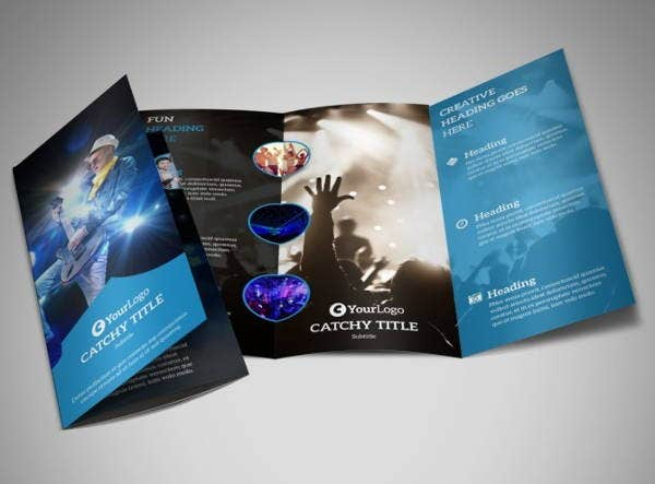 live music concert tri fold brochure