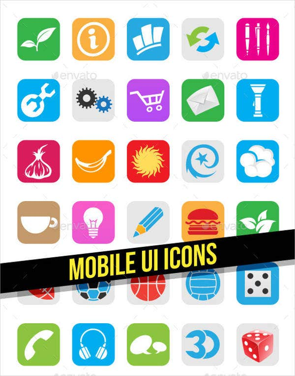 vector mobile app icons