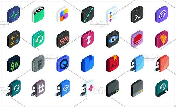 isometric-mobile-app-icons