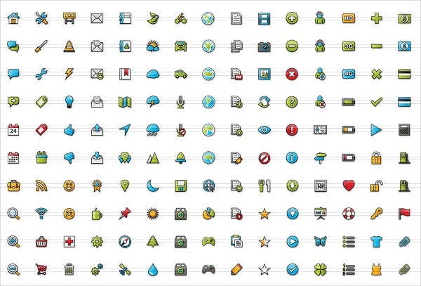 color mobile app icons