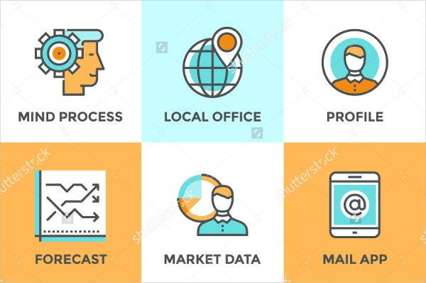 business-process-flow-icons-set