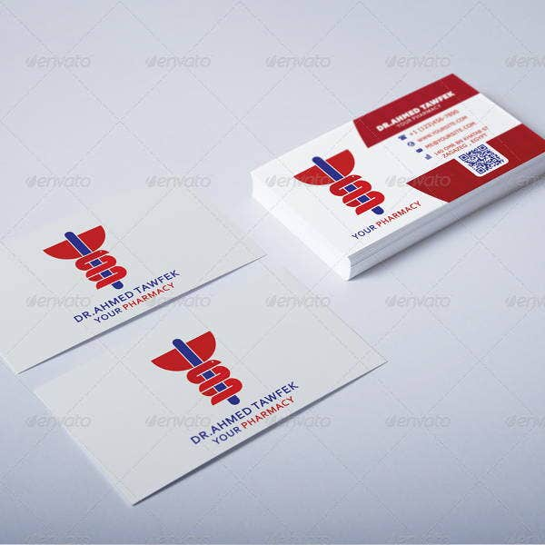 pharmacy business card psd