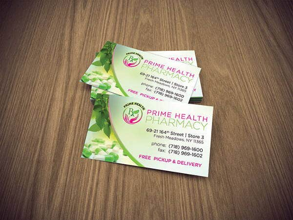 prime health pharmacy business cards