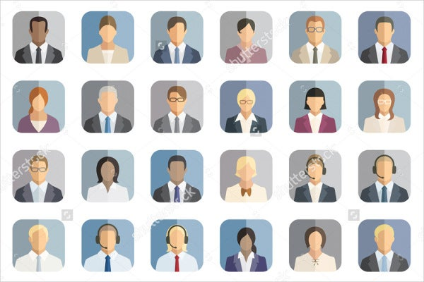 corporate-business-people-icons-set