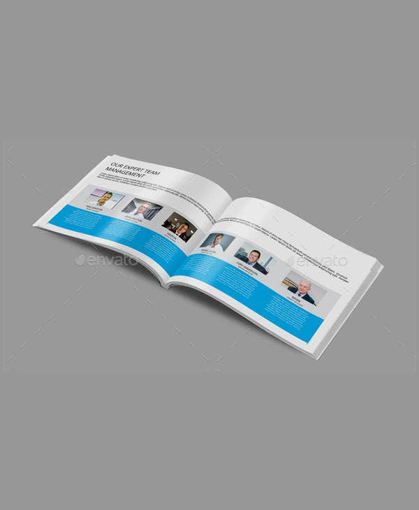 a5 landscape business brochure