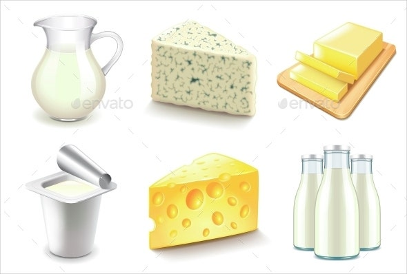 consumer dairy product icons