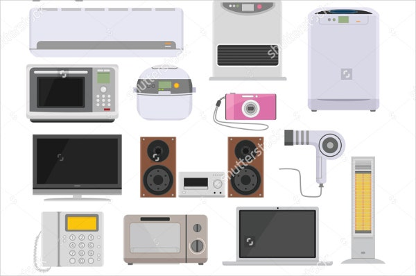 consumer electronic product icons