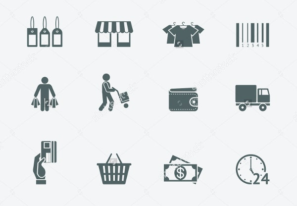 consumer product delivery icons
