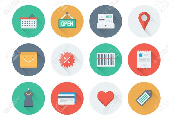 consumer product vector icons set