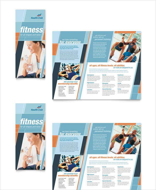 Corporate Fitness Brochures  Designs Templates  Free  Premium