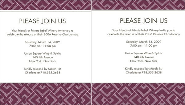 formal invitation template for an event - 6 holiday event invitations designs templates free