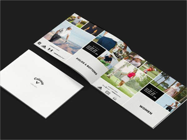golf presentation brochure template