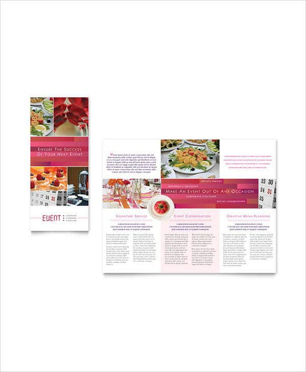 corporate catering event brochure