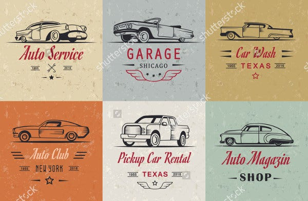 vintage car sales logo