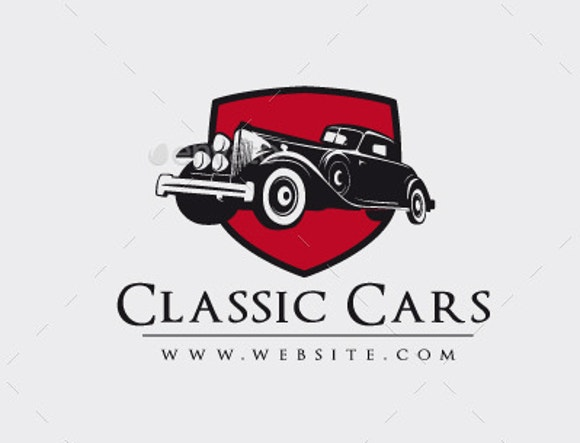 vintage car rental logo