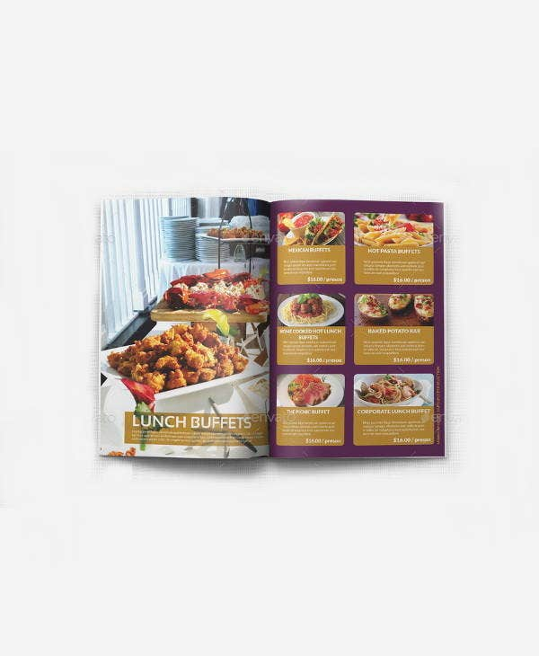 corporate catering menu brochure