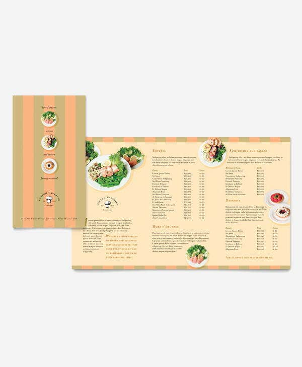 corporate catering company brochure