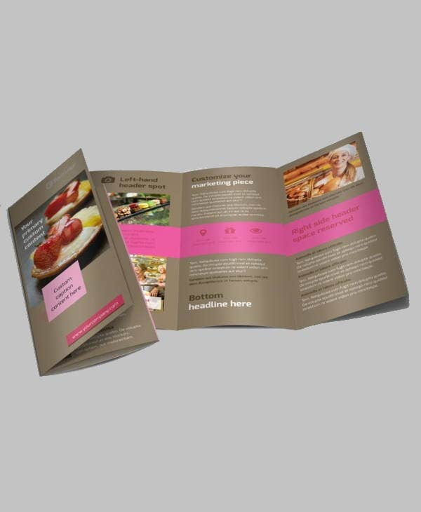 pastry corporate catering brochure