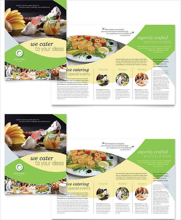 corporate food catering brochure