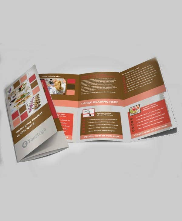 corporate catering trifold brochure