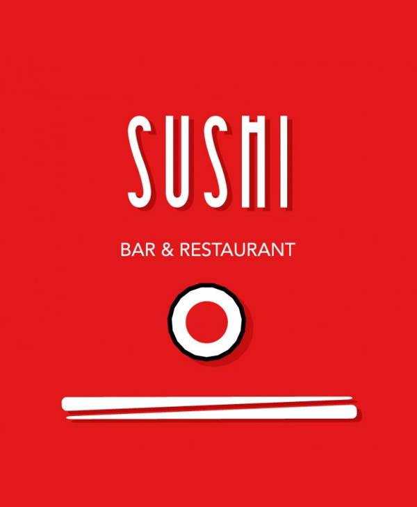Vintage Sushi Restaurant Logo