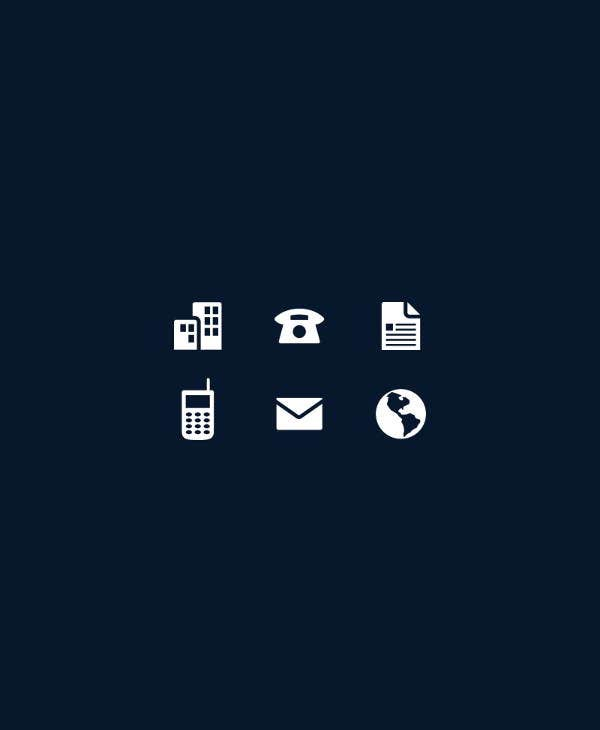 office-business-card-icons