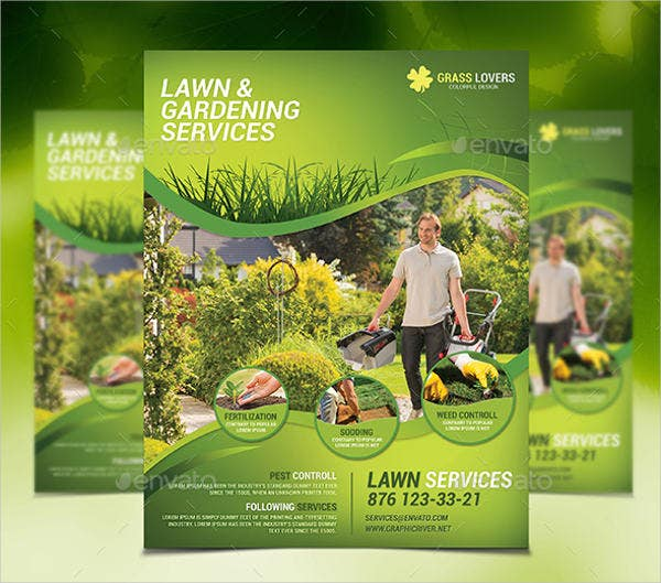lawn services flyer template1
