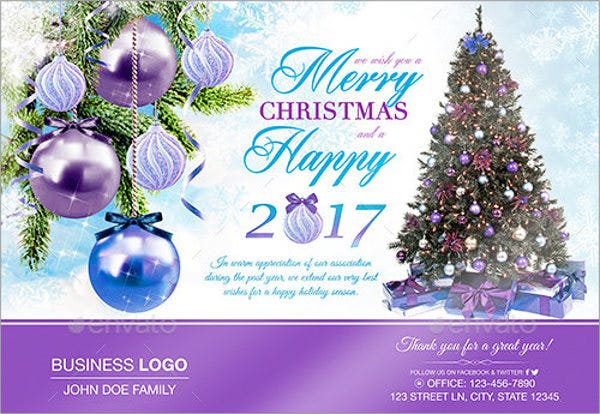 corporate new year greeting card - Business Christmas Cards