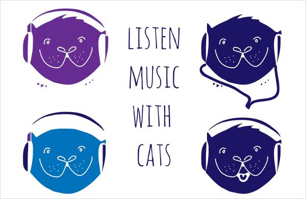 vintage hipster music logo