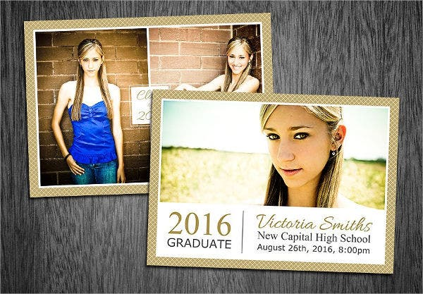 Graduation Photo Invitation Postcard