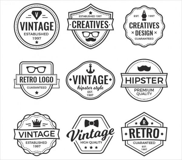 vintage hipster shapes logo