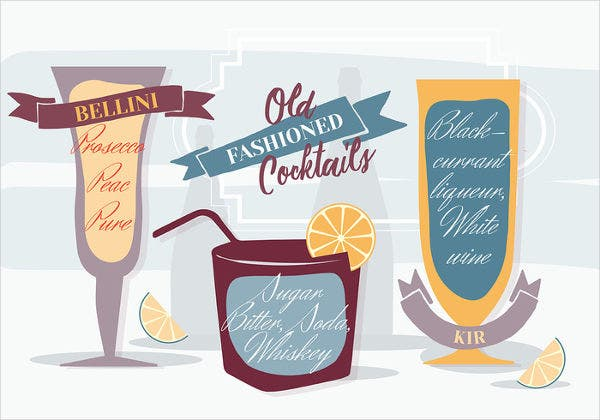 Fall Cocktail Party Menu Design