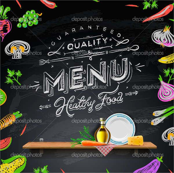 Free Printable Chalkboard Restaurant Menu Template  Free Printable Restaurant Menu Template
