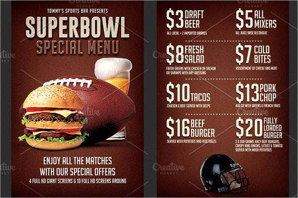 small-restaurant-super-bowl-menu-template