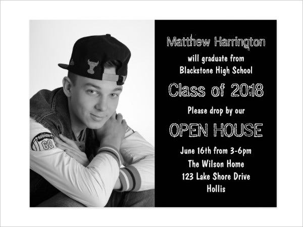 High School Graduation Invitation Postcard