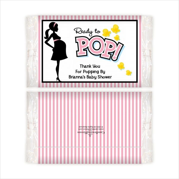 Baby Shower Popcorn Wrapper Template