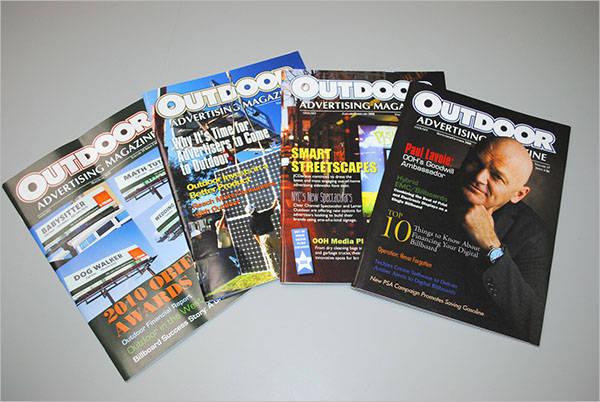 outdoor advertising magazine template