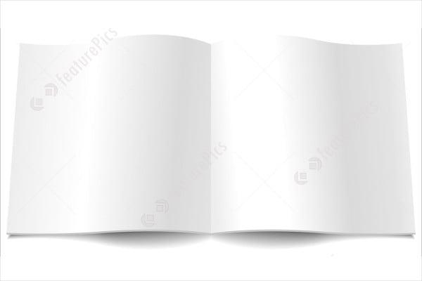 open blank magazine template